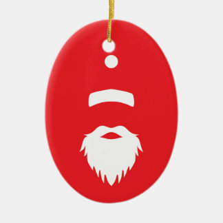 De Kerstman Keramisch Ovaal Ornament