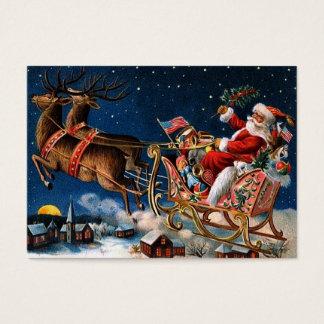 De Kerstman komt aan Stad Visitekaartjes