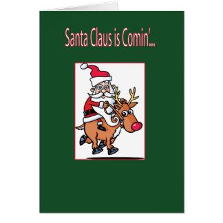 De Kerstman komt Briefkaarten 0