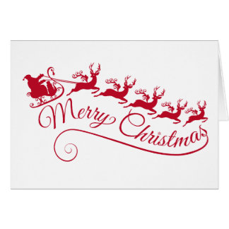 De Kerstman met zijn ar en rendier Kaart