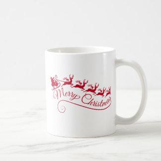 De Kerstman met zijn ar en rendier Koffiemok