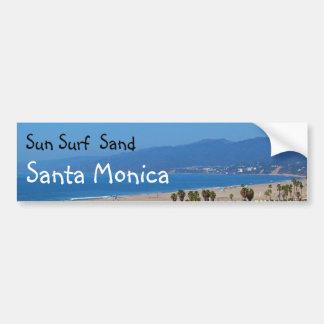 De Kerstman Monica van het Zand van de Branding Bumpersticker