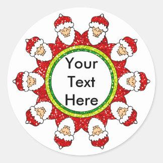 De Kerstman om Sticker
