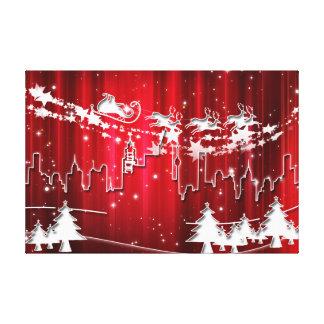 De Kerstman op het werk Canvas Afdruk