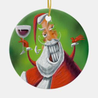 De Kerstman Rond Keramisch Ornament