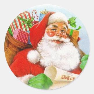 De Kerstman Ronde Sticker