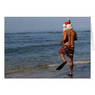De kerstman snorkelt de Kaart van Hawaï