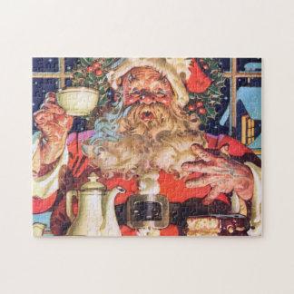 De Kerstman thuis Puzzel