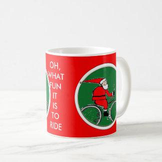 De Kerstman van de fietser Koffiemok