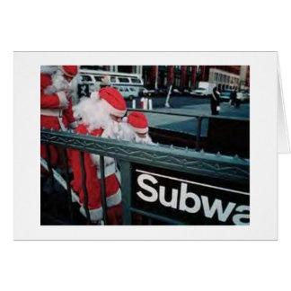 De Kerstman van de metro Wenskaart