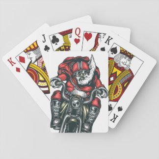De Kerstman van de motorfiets Speelkaarten