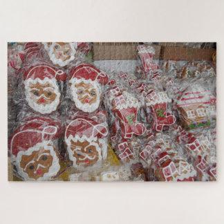 De Kerstman van de peperkoek met de Verglazing van Puzzel