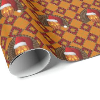 De Kerstman van de Pompoen van Turkije op Argyle Inpakpapier