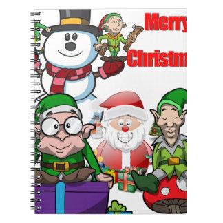 De Kerstman van de Sneeuwman van Elfs van de Scène Notitieboeken