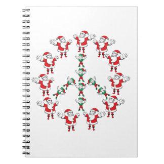 De Kerstman van de vrede fron en zijn Elf:) Ringband Notitieboek