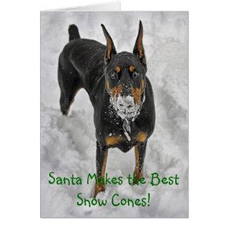 De Kerstman van Doberman maakt de Beste Kaart van