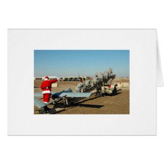 De Kerstman van het leger Wenskaart
