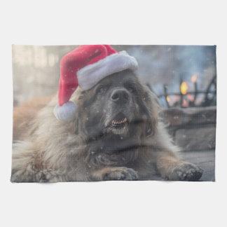 De Kerstman van Leonberger Theedoek