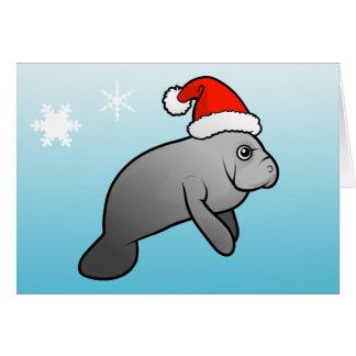De Kerstman van Manatee van Kerstmis Briefkaarten 0