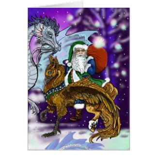 De Kerstman van Mythic Briefkaarten 0