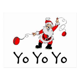 De Kerstman van Yo van de jojo Briefkaart