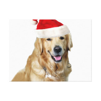 De kerstmis-kerstman van Labrador Claus Canvas Print