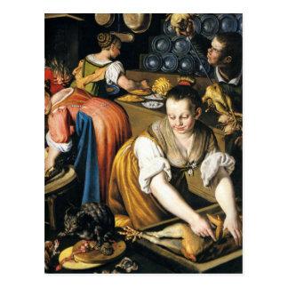 De keuken in detail door Vincenzo Campi Briefkaart