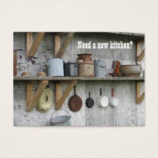 De keuken remodelleert Vintage Visitekaartje Visitekaartjes