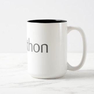 De keurige Codeur van de Python Tweekleurige Koffiemok