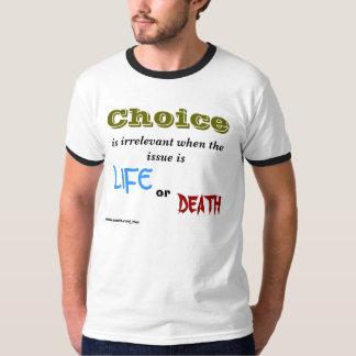 De keus, is onbelangrijk wanneer de kwestie, het t shirt