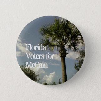 De Kiezers van Florida voor McCain Ronde Button 5,7 Cm