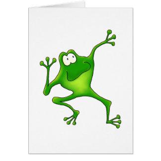 De Kikker van de aerobics Briefkaarten 0