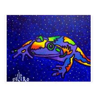De Kikker van de regenboog door Piliero Briefkaart
