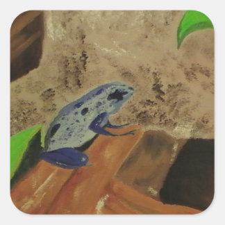 De Kikker van het Pijltje van het vergift # 1 Vierkant Stickers