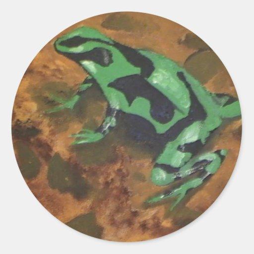 De Kikker van het Pijltje van het vergift # 5 Ronde Sticker