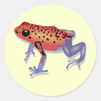 De Kikker van het Pijltje van het vergift Ronde Sticker