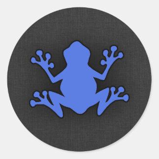 De Kikker van koningsblauwen Ronde Sticker