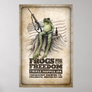 De kikkers voor Vrijheid drievoudig-Hopped IPA Poster