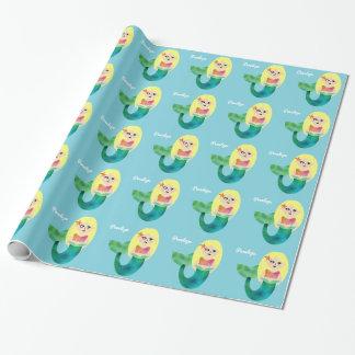 De kind Gepersonaliseerde Meisjes van de Meermin Inpakpapier