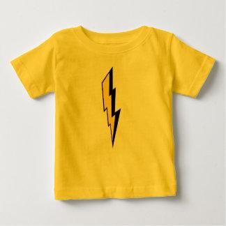 De kinder Bout van de Bliksem Baby T Shirts