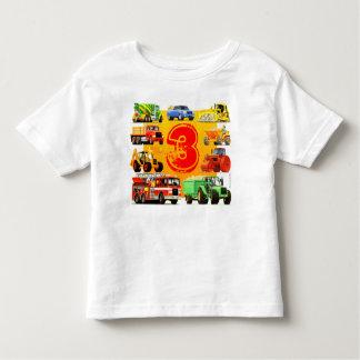De kinder Grote 3de Verjaardag van de Vrachtwagen Kinder Shirts