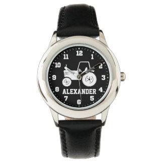 De kinder jongens noemen grijs zwart horloges