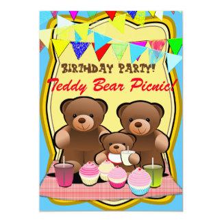 De Kinder Partij van de Picknick van de teddybeer Kaart