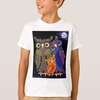 De Kinder T-shirt van de Familie van de uil