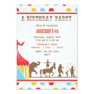 De kinder Uitnodiging van de Verjaardag - Circus