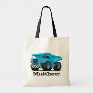 De kinder Vrachtwagen van de Kipwagen van de Bouw Draagtas