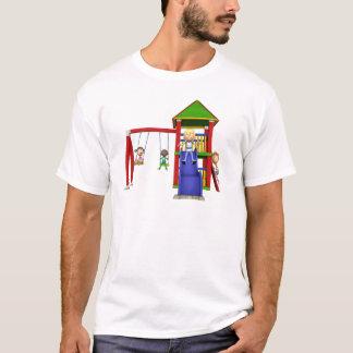 De Kinderen van de cartoon bij een Speelplaats T Shirt