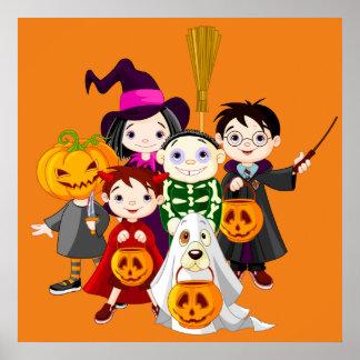 De kinderen van Halloween bedriegen of behandelend Poster