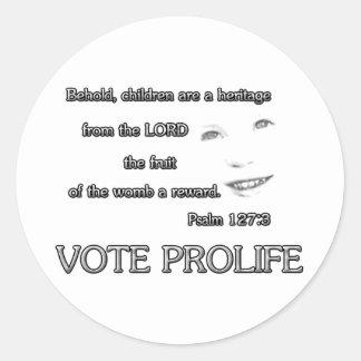 De kinderen zijn een Heritage~ Stem ProLife Ronde Sticker