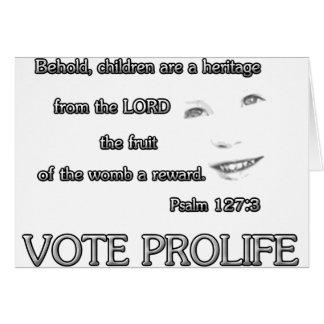 De kinderen zijn een Heritage~ Stem ProLife Wenskaart